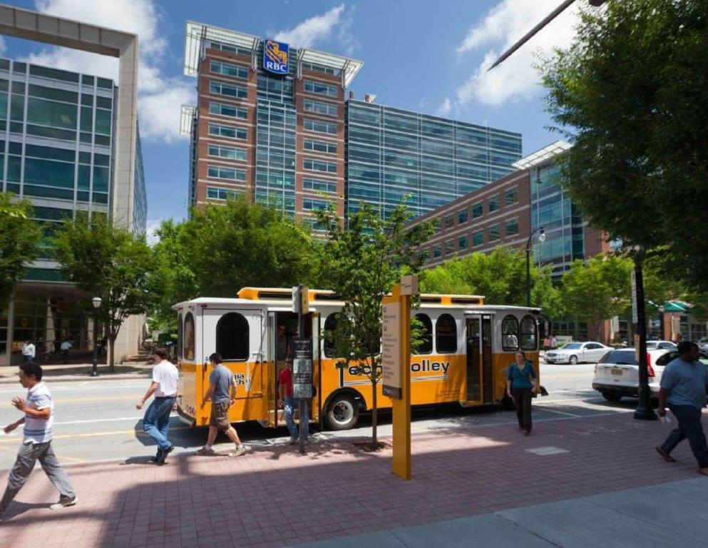 Georgia Tech Trolley at Tech Square Atlanta, Georgia